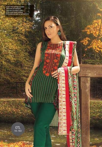 Orient Textile Latest Fall Winter Trendy Shawl Dress Series for Women 2014-2015 (20)
