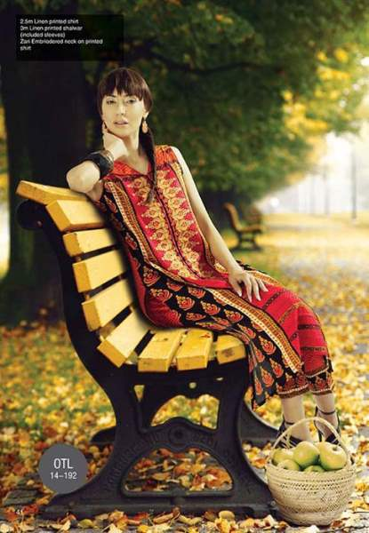 Orient Textile Latest Fall Winter Trendy Shawl Dress Series for Women 2014-2015 (22)