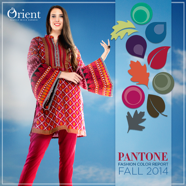 Orient Textile Latest Fall Winter Trendy Shawl Dress Series for Women 2014-2015 (3)