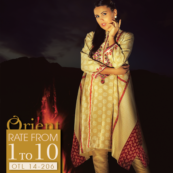 Orient Textile Latest Fall Winter Trendy Shawl Dress Series for Women 2014-2015 (4)