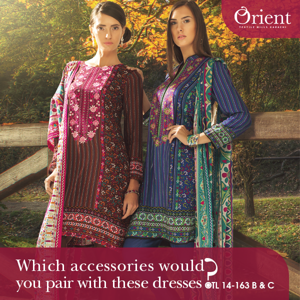 Orient Textile Latest Fall Winter Trendy Shawl Dress Series for Women 2014-2015 (7)