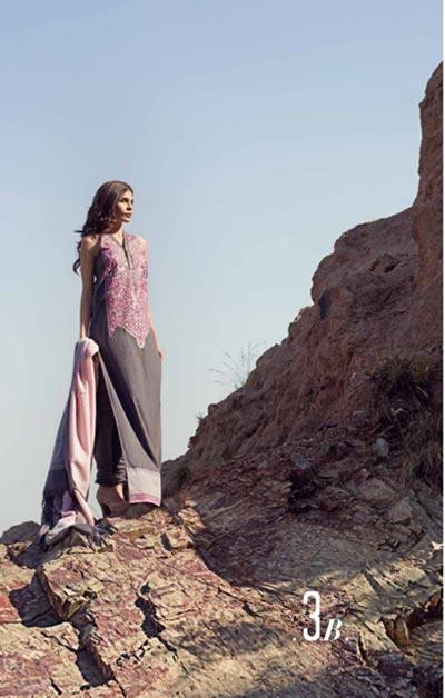 Sana Safinaz Latest Winter Shawls Collection Designer Ready Made Dresses for Women 2014-2015 (14)