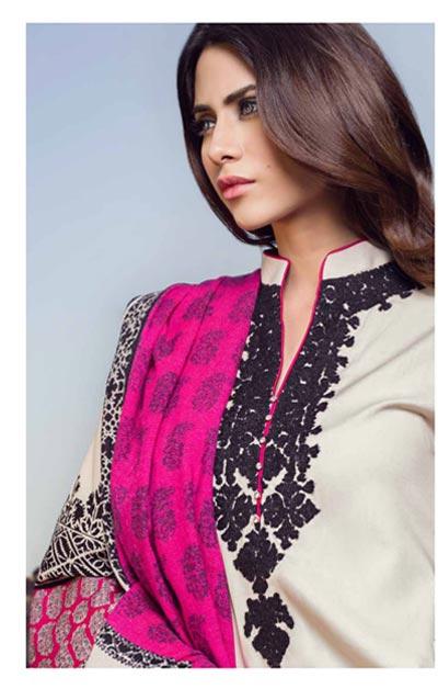 Sana Safinaz Latest Winter Shawls Collection Designer Ready Made Dresses for Women 2014-2015 (17)