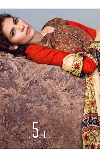 Sana Safinaz Latest Winter Shawls Collection Designer Ready Made Dresses for Women 2014-2015 (18)