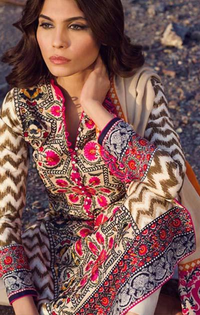 Sana Safinaz Latest Winter Shawls Collection Designer Ready Made Dresses for Women 2014-2015 (19)