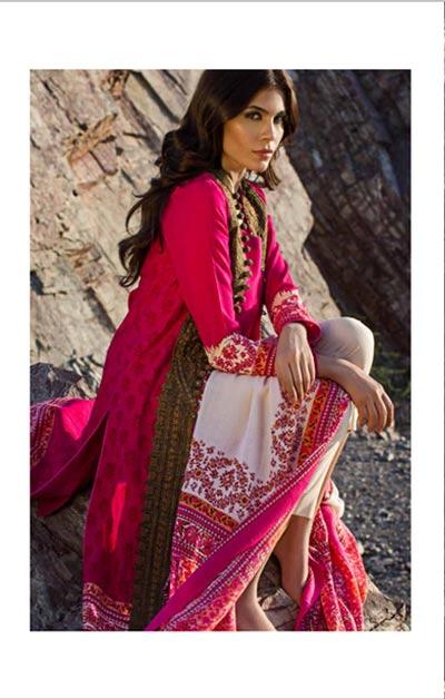 Sana Safinaz Latest Winter Shawls Collection Designer Ready Made Dresses for Women 2014-2015 (24)