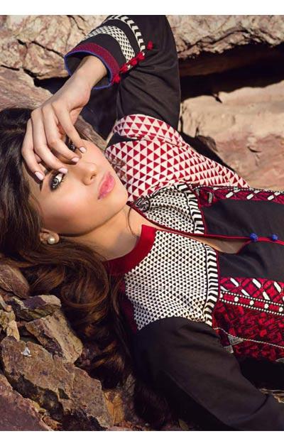 Sana Safinaz Latest Winter Shawls Collection Designer Ready Made Dresses for Women 2014-2015 (26)
