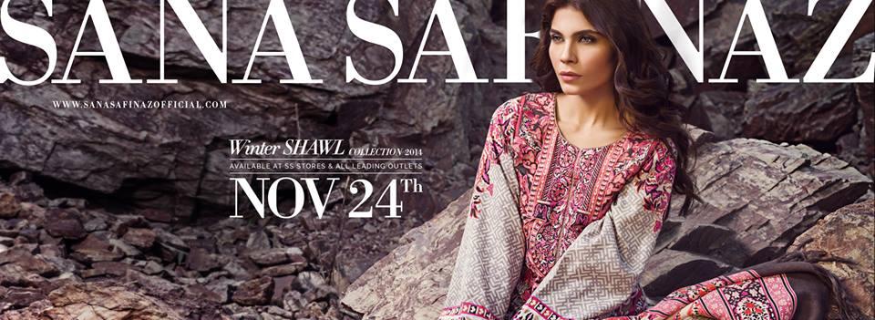 Sana Safinaz Latest Winter Shawls Collection Designer Ready Made Dresses for Women 2014-2015 (28)