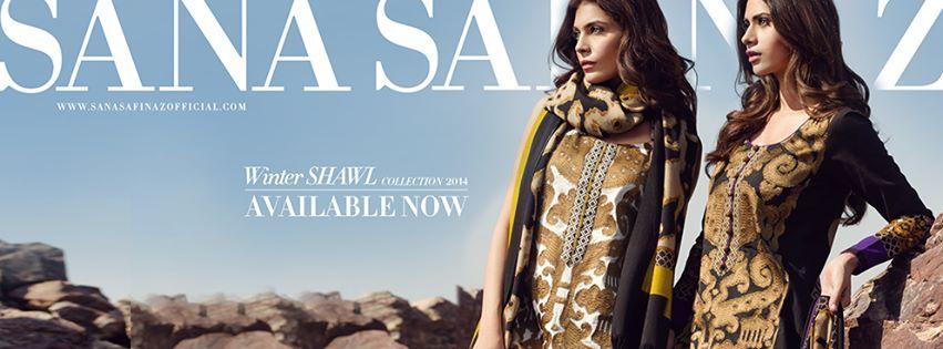 Sana Safinaz Latest Winter Shawls Collection Designer Ready Made Dresses for Women 2014-2015 (32)