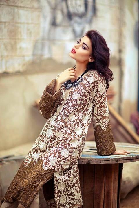 Sana Safinaz Latest Winter Shawls Collection Designer Ready Made Dresses for Women 2014-2015 (36)