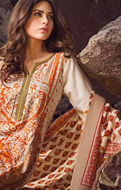Sana Safinaz Latest Winter Shawls Collection Designer Ready Made Dresses for Women 2014-2015 (8)