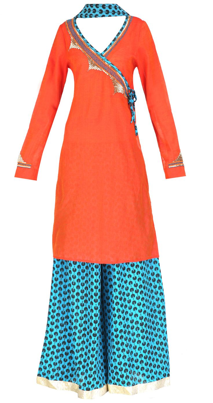 Trendy Angrakha Style Kurti designs for Women (10)