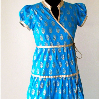 Trendy Angrakha Style Kurti designs for Women (5)