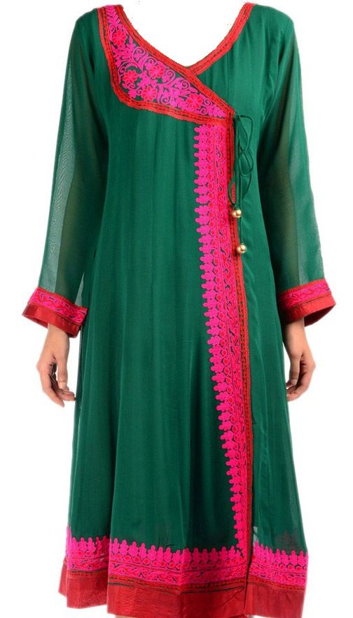 Trendy Angrakha Style Kurti designs for Women (8)