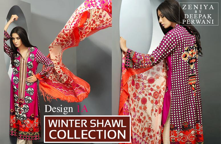 Zeniya By Deepak Perwani Latest Winter Shawl dresses Collection for Women 2014-2015 (13)