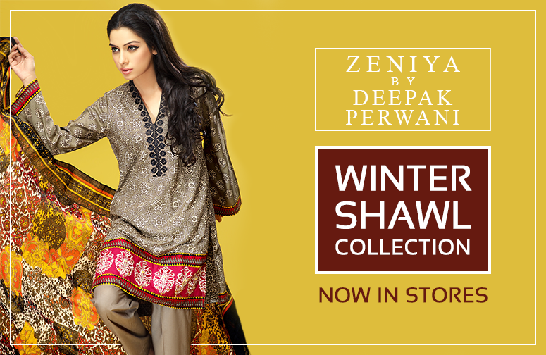 Zeniya By Deepak Perwani Latest Winter Shawl dresses Collection for Women 2014-2015 (14)
