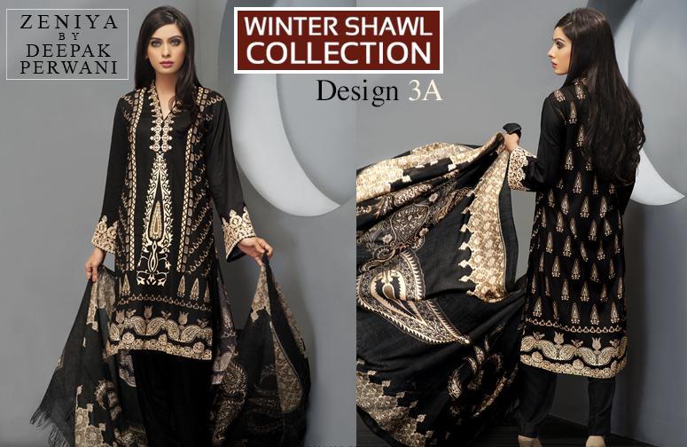 Zeniya By Deepak Perwani Latest Winter Shawl dresses Collection for Women 2014-2015 (21)
