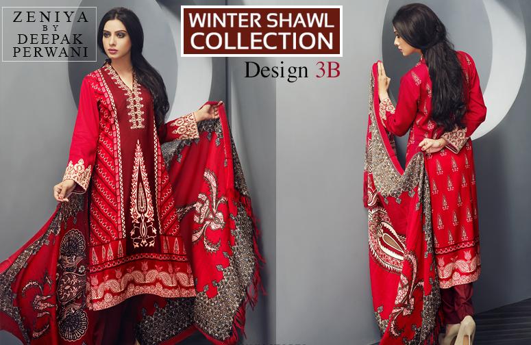 Zeniya By Deepak Perwani Latest Winter Shawl dresses Collection for Women 2014-2015 (6)