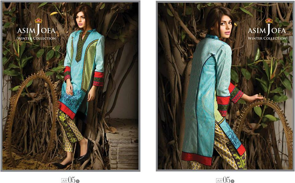 Asim Jofa Latest Winter Embroidered Dresses Collection for Women 2014-2015 (11)