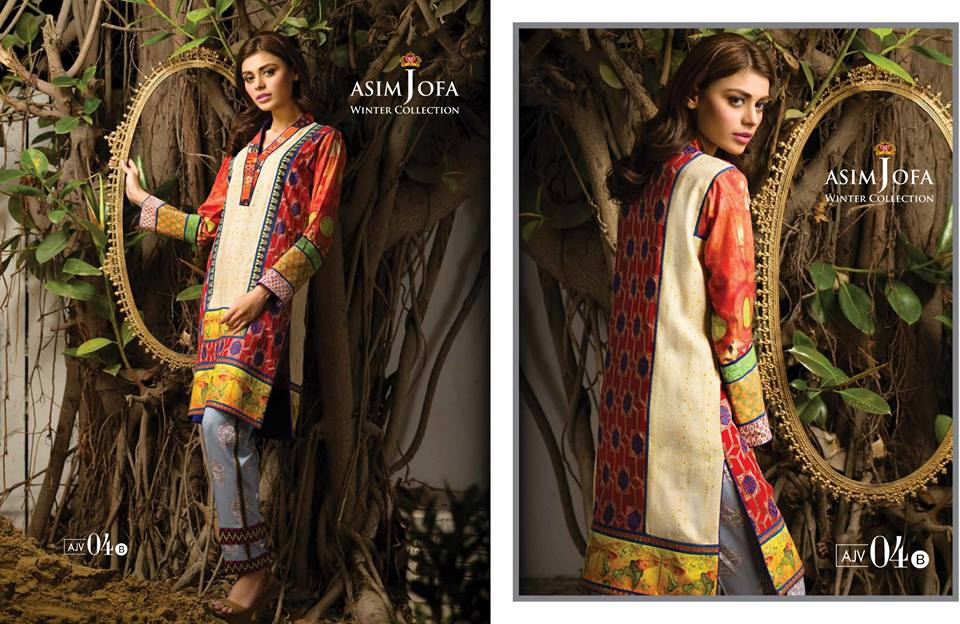 Asim Jofa Latest Winter Embroidered Dresses Collection for Women 2014-2015 (14)