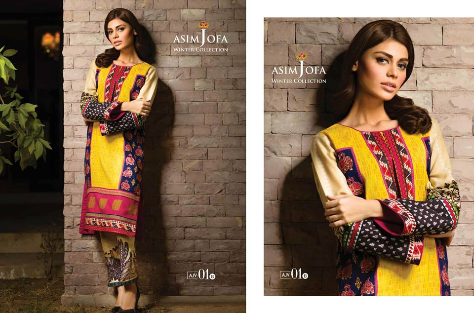 Asim Jofa Latest Winter Embroidered Dresses Collection for Women 2014-2015 (18)