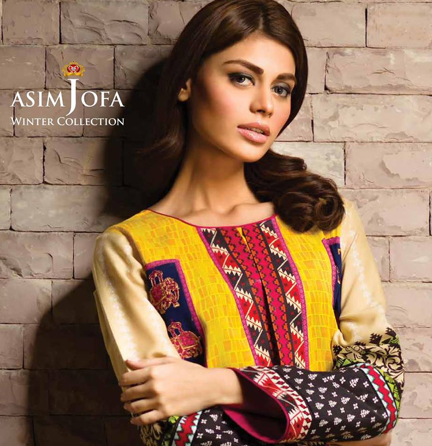 Asim Jofa Latest Winter Embroidered Dresses Collection for Women 2014-2015 (8)
