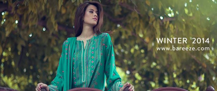 Bareeze Latest Winter Trendy Embroidered Dress Designs Classic Collection 2014-2015 (41)