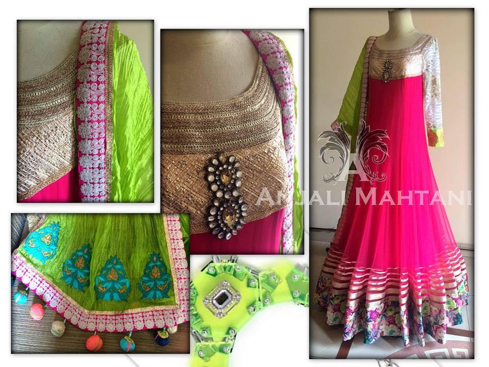 Latest Collection Asian fashion Long Pishwas Dresses & Anarkali Frocks for Women 2015-2016 (14)