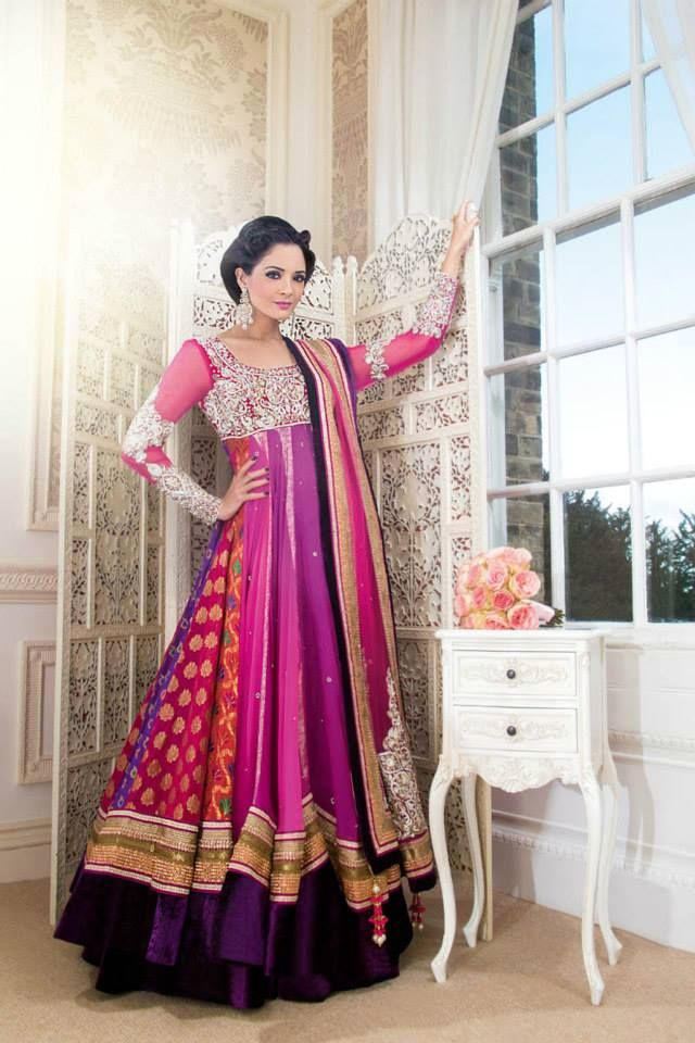Latest Indian & Asian Fancy Umbrella Frocks Designs Collection For Girls 2015-2016 (23)