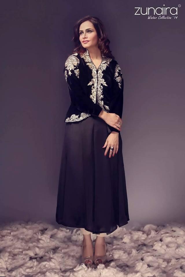 Pakistani Party Wear Dresses & Frocks 2017-18 by Zunaira Lounge