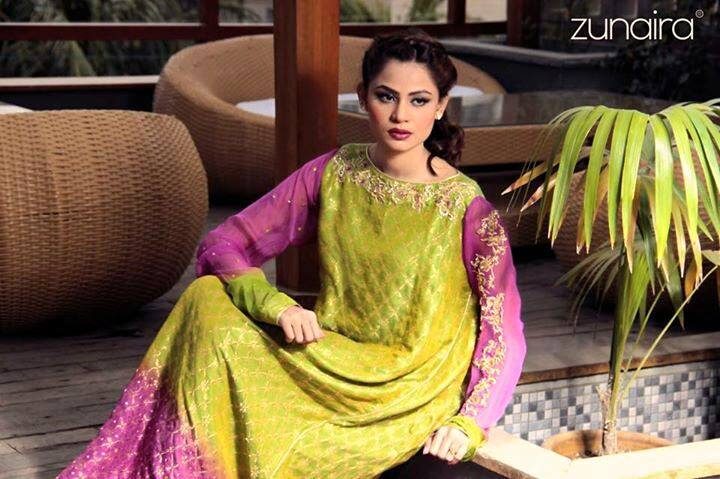 Pakistani Party Wear Dresses by Zunaira Lounge Formal Dresses Collection 2015-16 for Women (7)