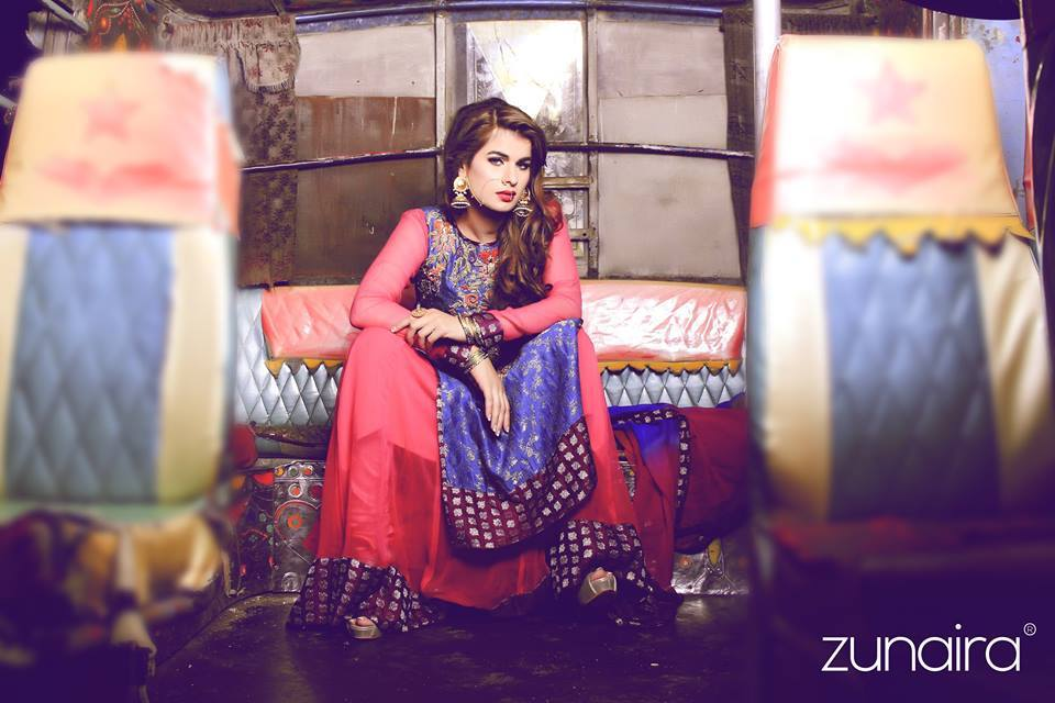 Pakistani Party Wear Dresses by Zunaira Lounge Formal Dresses Collection 2015-16 for Women (9)