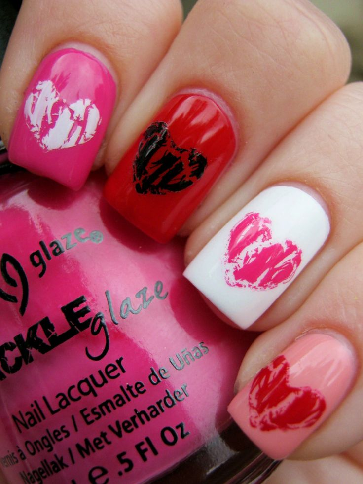 French Tip - romantic nail art designsBest & Beautiful Nail Art Designs & Ideas to Spice up your Valentines Day (5)