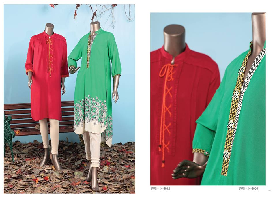 J. Junaid Jamshed Latest Pret Wear Fancy Dresses Collection for Women 2015-2016 (2)