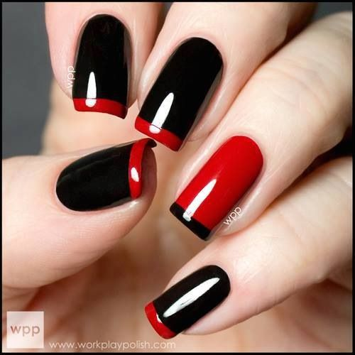LOUBOUTIN INSPIRED NAIL ARTS - romantic nail art designsBest & Beautiful Nail Art Designs & Ideas to Spice up your Valentines Day (1)