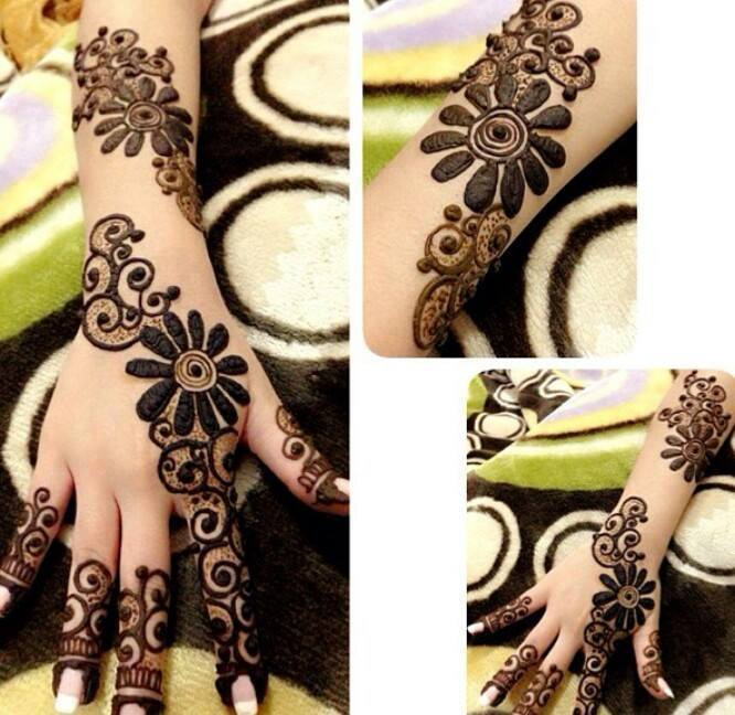 Stylish & Trendy Arabic Mehandi Designs Collection for Hands & Feet 2015-2016 (11)