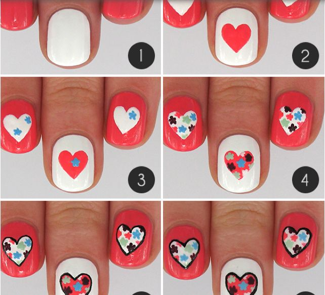 Sweet Candy Heart - romantic nail art designsBest & Beautiful Nail Art Designs & Ideas to Spice up your Valentines Day (7)