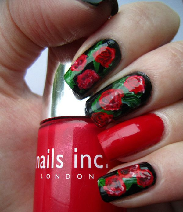 romantic nail art designsBest & Beautiful Nail Art Designs & Ideas to Spice up your Valentines Day Floral Nail Arts (6) - Copy