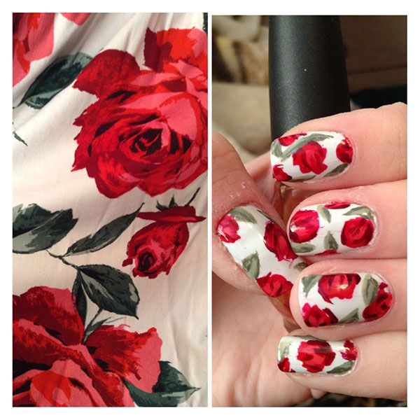romantic nail art designsBest & Beautiful Nail Art Designs & Ideas to Spice up your Valentines Day Floral Nail Arts (8) - Copy