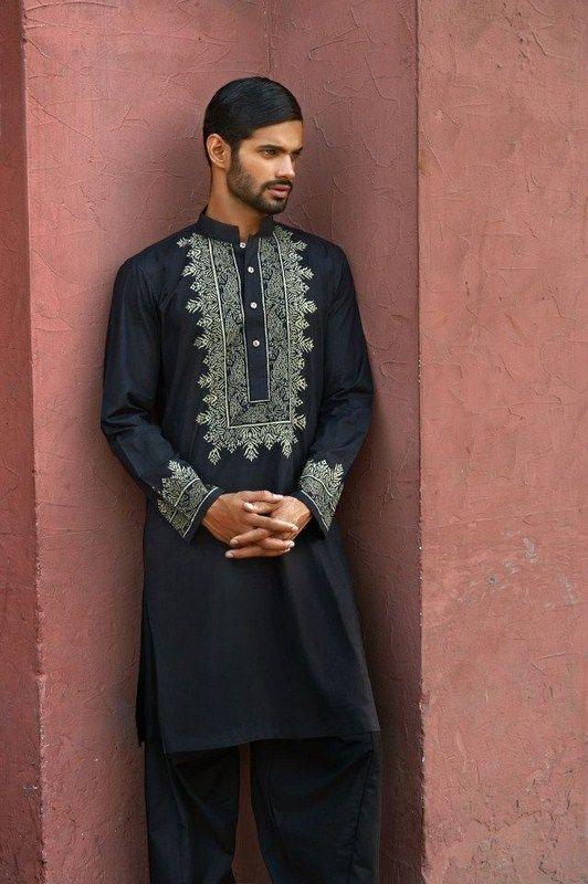 Latest Summer Fashion Men Kurta Shalwar Kameez Designs Collection 2015-2016 (2)