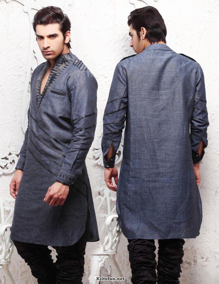 Latest Summer Fashion Men Kurta Shalwar Kameez Designs Collection 2015-2016 (26)
