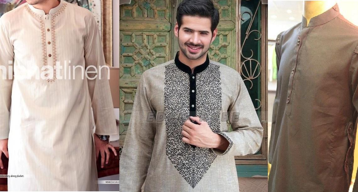 Latest Summer Fashion Men Kurta Shalwar Kameez Designs Collection 2015-2016 (27)