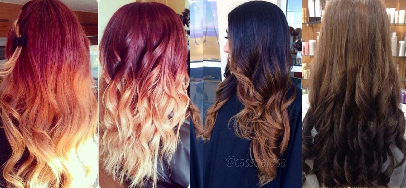 2018 Hairstyle For Dark Hair Color: Most Popular Ombre Hair Color & Hairstyling Trends 2018-2019