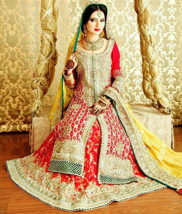 Latest Wedding Gowns 2015: Latest Barat Dresses Designs & Ideas Collection For