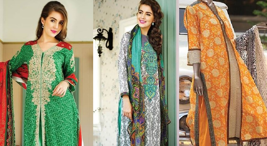 Pakistani Brands Latest Spring Summer Dresses Collections for Women 2015