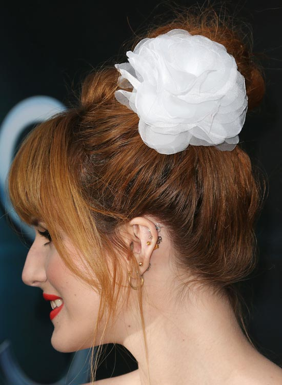 9-Messy-High-Bun-with-Puffy-Top-and-Fringes