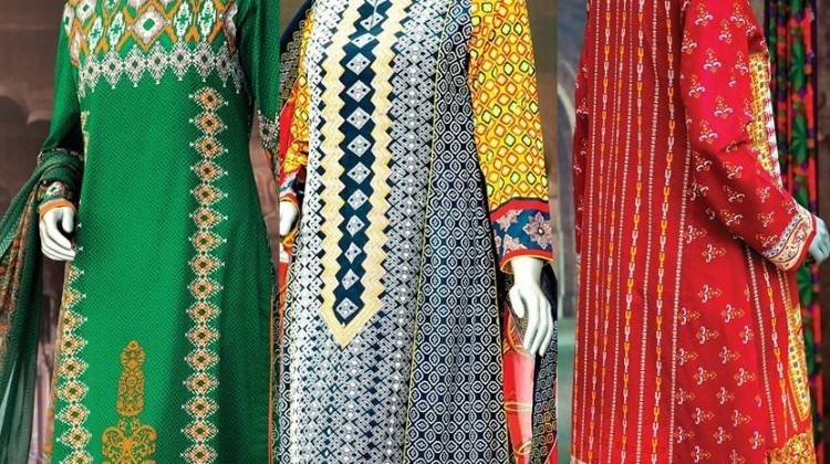 Amir Liaqaut Summer Lawn Aanchal Collection 2015 by Amna Ismail (1)