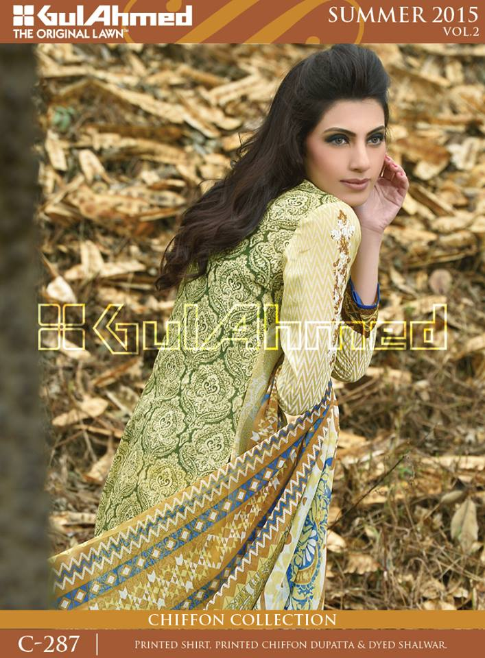Gul Ahmed The Original Lawn Summer Lawn Chiffon Dresses Collection 2015-2016 (1)
