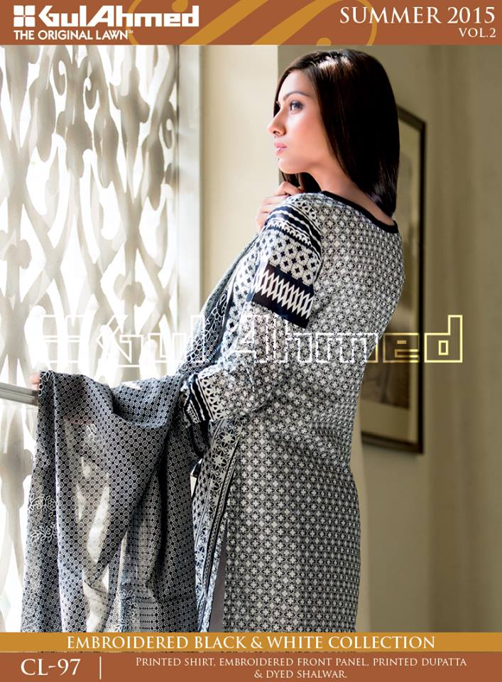 Gul Ahmed The Original Lawn Summer Lawn Chiffon Dresses Collection 2015-2016 (10)