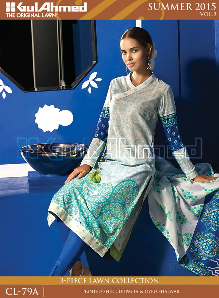 Gul Ahmed The Original Lawn Summer Lawn Chiffon Dresses Collection 2015-2016 (13)